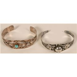 Two Vintage Sterling Bracelets  #109756