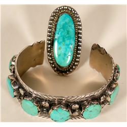 Vintage Navajo Turquoise Cuff and Ring  #109771