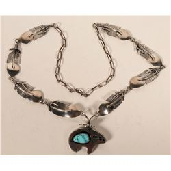 Zuni Bear Pendant Necklace  #109115