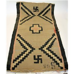 Navajo rug medium size with Whirling Log pattern     #109100