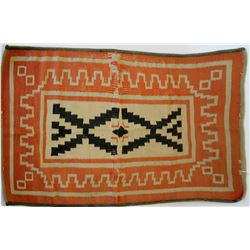 Navajo rug Orange color medium size  #109098