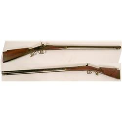 Half-stock Kentucky rifle made in Ohio maker unknown  #109093