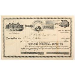 Portland  Industrial Exposition stock  #82741
