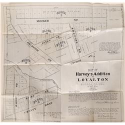 Loyalton Town Plat Map on Linen, California- 1903  #110035
