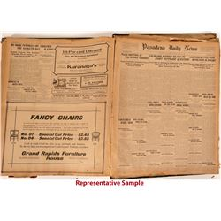 20 Bound Volumes of Pasadena Daily Union and Successor Papers, 1888-1906  #110277