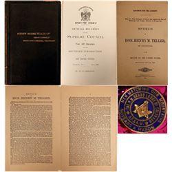 Senator Henry M. Teller's 33 Degree Masonic Items  #110658