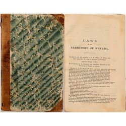 Book / Laws of the Nevada Territory .  #106244