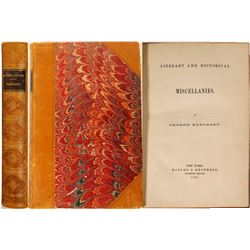 Literary and Historical Miscellanies by Bancroft  #100013