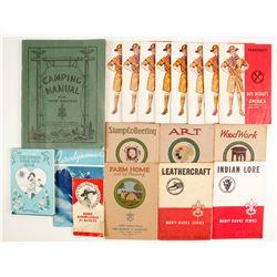 Old Boy Scout Merit Badge Books (17)  #86226