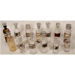 Label-Under-Glass Drug Store Bottle Collection (13)  #110642