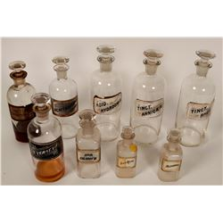 Label-Under-Glass Drug Store Bottle Group  #110641