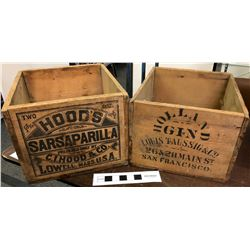 Vintage Wood Bottle Boxes for Famous Brands  #110878