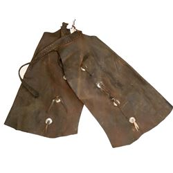 Leather Chaps, Authentic Cowboy Attire   #108758