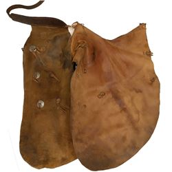Western Brown Suede Chaps   #108754