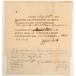 Army Pay Order and Verification of Services in 1st CT Regiment  #106567