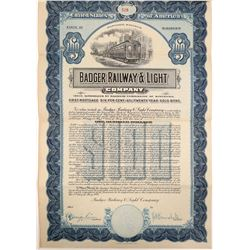 Gold Bond from Badger Railway & Light Co.  #106632