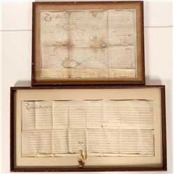 Two 1660's Framed English Indentures  #105925