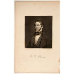 William H Prescott Autographed Engraving  #106480