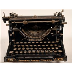 Type writer / Underwood # 5  #109738