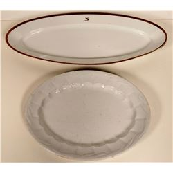 Two Vintage Ironstone Platters  #109764