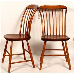 Two Antique Wooden Chairs  #109349