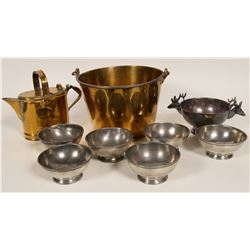 Vintage Brass and Silver Plate Items  #109844