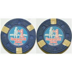 Commercial Hotel $1 Gaming Chip  #90324
