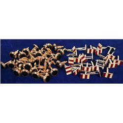 jewelry / Cuff links / 30 Items.  #109903