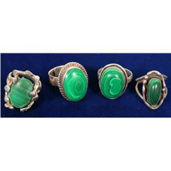 Malachite Rings  #109734