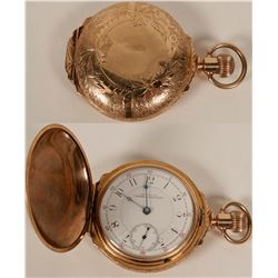 Large Mens 14 kt Gold Pocket Watch, 1889-1890  #110650