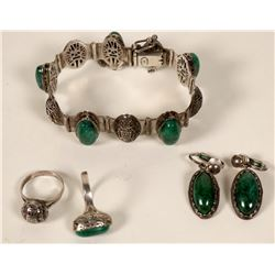 Set of Chrysoprase Jewelry  #109112