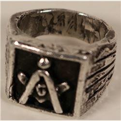 Silver Masonic Ring  #109755