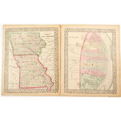 Maps of Iowa, Missouri  #54227