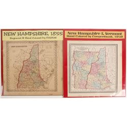 Maps of New Hampshire & Vermont (2)  #72011