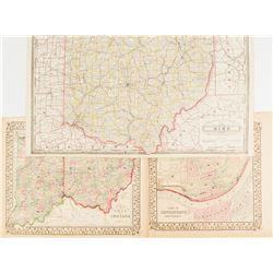 Maps of Ohio & Indiana  #54229