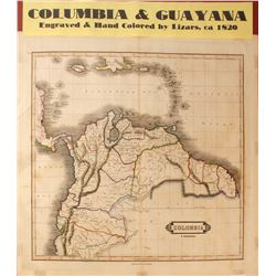 Map of Columbia & Guayana  #59639