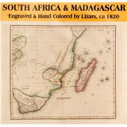 Map of South Africa & Madagascar  #59634