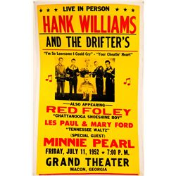 Hank Williams (Senior) and the Drifter's Concert Poster  #108289