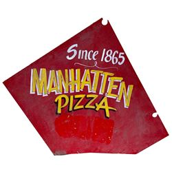 Red Dog Saloon Manhattan Pizza Sign  #109792