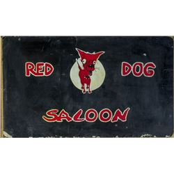 Red Dog Saloon, Original Two-Sided Sign  #110402