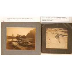 Two Cabinet Card Photos of Armed Men  #110399