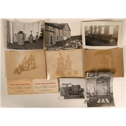Nevada Engineering Works Photographs (8) and Business Cards (2)  #110670