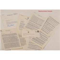 40 Political Letters from 1969-19743: Including Stevenson, Goldwater, Thurman, Nixon, etc.  #104505