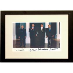 Presidential Autographs of 4 Presidents Photo  #110876