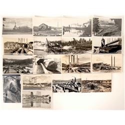 "Logging Ponds & Mills / "" Picture Post Cards' / 17 Items.  #109711"
