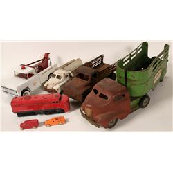 Group of 4 Metal Toy Trucks Incl. Buddy L, Structo  #110268