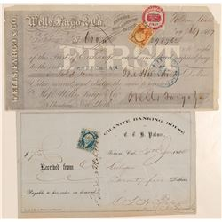 Two Interesting Banking Pieces from Folsom  #102274