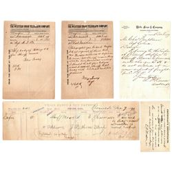Corpse Waybill and Related Documents - Mendocino Outlaws  #86319