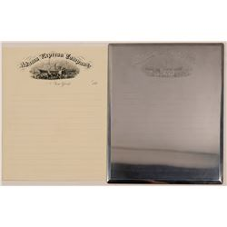 Adams Express Company Original Printing Plate  -ONE OF A KIND!  #108054