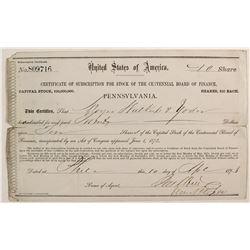 The Centennial Board of Finance stock  #82740
